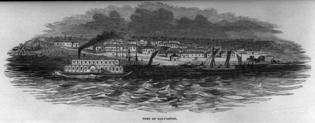 Port of Galveston - 1845